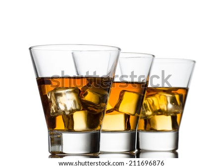 whisky isolated on a white background