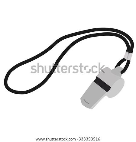 Whistle, coach whistle, whsle blowing, whistle icon, whistleblower - stock photo
