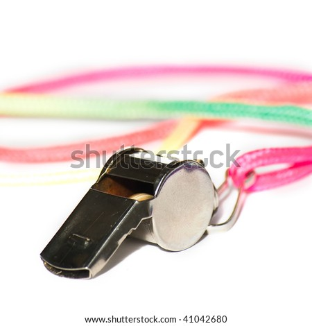 whistle isolated on white - stock photo