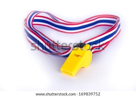 whistle striped flag of thailand  - stock photo