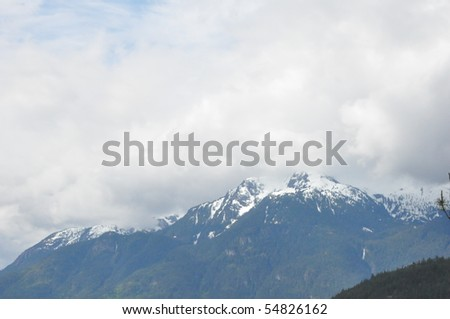 Whistler Blackcomb in British Columbia, Canada - stock photo