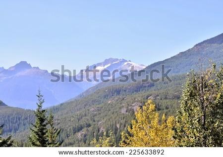 Whistler mountain BC Canada - stock photo