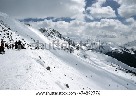 Whistler Skiing by Black Comb