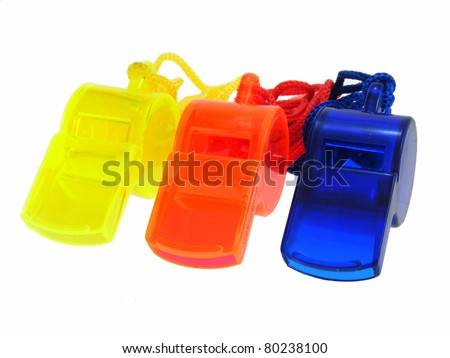 Whistles - stock photo