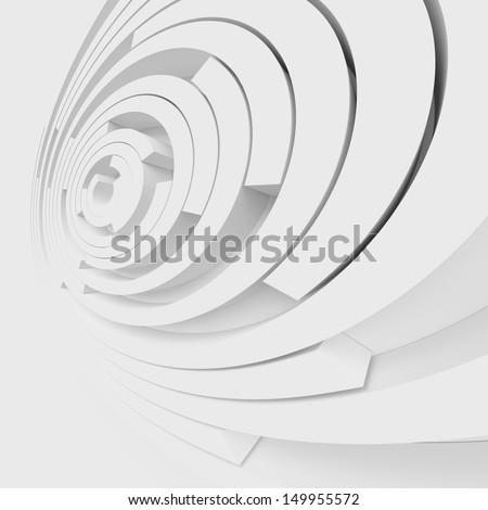 White Abstract Architecture Design - stock photo