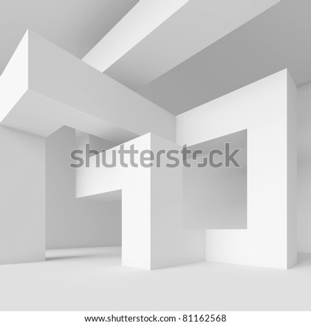 White Abstract Architecture Wallpaper - stock photo