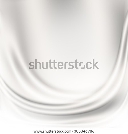 white abstract background silk fabric texture, may use to decorative greeting card design - stock photo