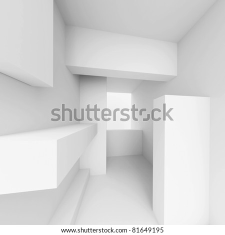 White Abstract Construction - stock photo