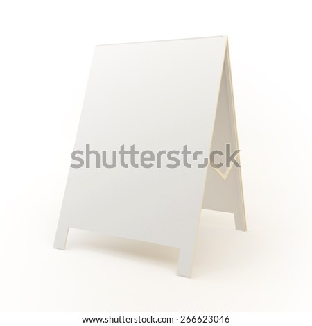white advertising stand. vector on white background - stock photo