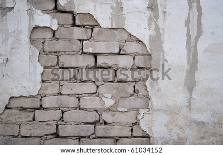 white aged brick background - stock photo