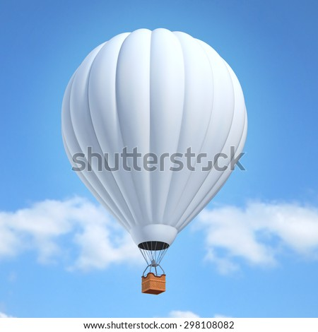 white air balloon 3d illustration - stock photo