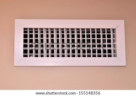 White air vent - stock photo