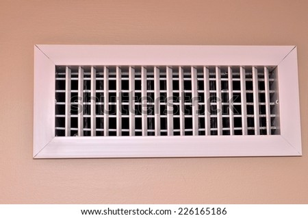 White air vent - stock photo