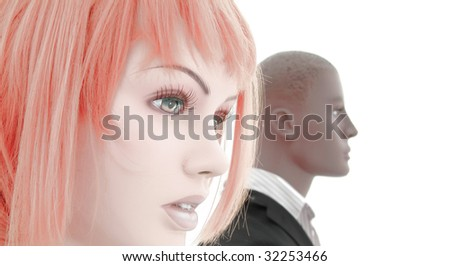 White and black - stock photo