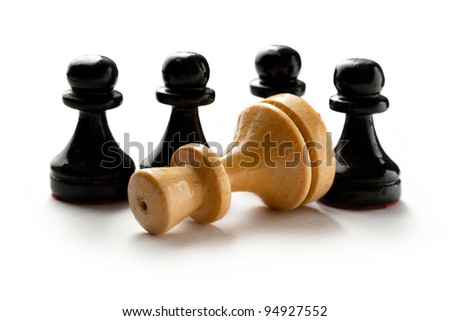 White and black chess figures