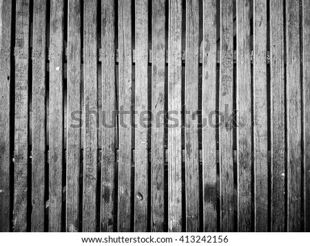 White and Black Dark Wood Background Table - stock photo