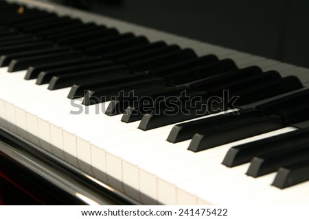 White and black keys of the piano keyboard - stock photo