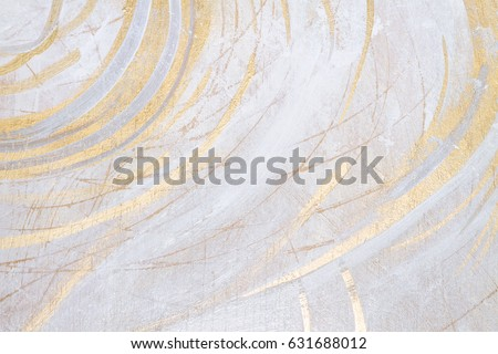 White And Gold Antique Rustic Acrylic Colors Brush Painted Texture Background