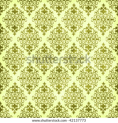 White and Green Vintage Pattern