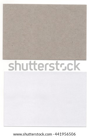 white and light brown paper