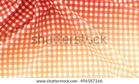 White and red checked cloth background