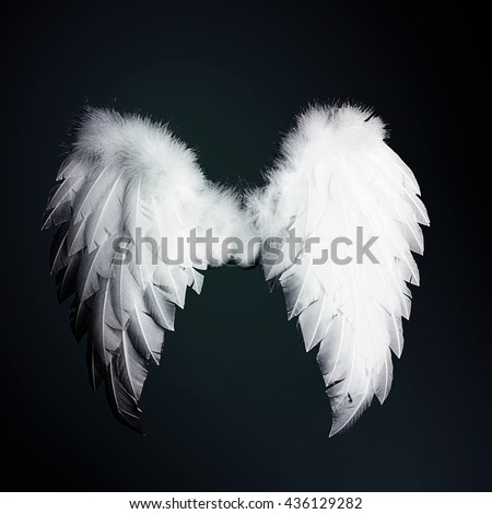 angel wings black background - photo #24
