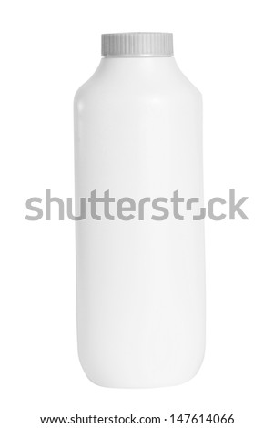 White Baby talcum powder container with clipping path