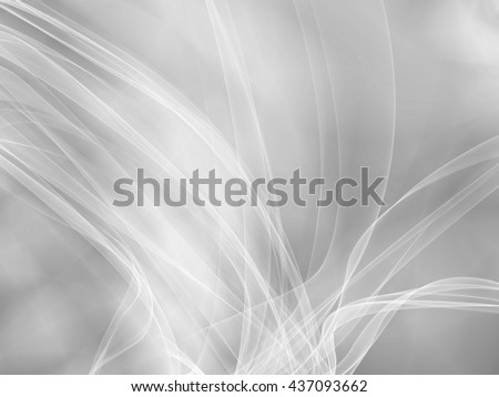White background abstract wave curve illustration - stock photo
