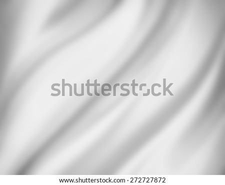 white background. blurred draped cloth background. - stock photo