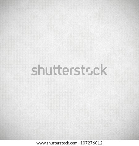 white background, fabric textile texture and vignette - stock photo
