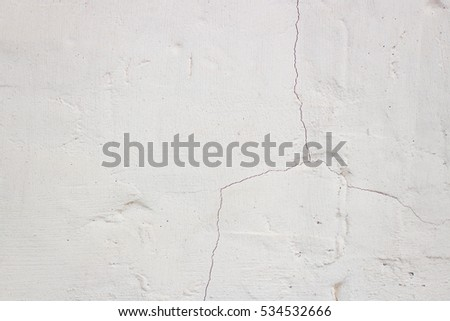 White background gray old plaster in the daytime