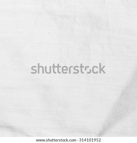 white background wrinkled paper texture canvas pattern - stock photo