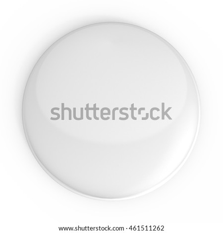 white badge pin brooch mock-up 3d illustration
