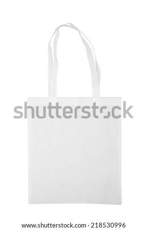 White bag shopping. isolated on white background - stock photo