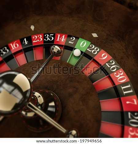 white ball on roulette wheel