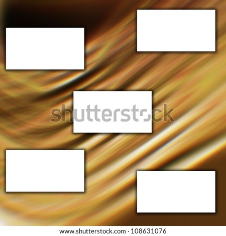 white banner on yellow background - stock photo
