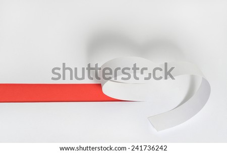 white beautiful paper heart with shadow, valentines day background