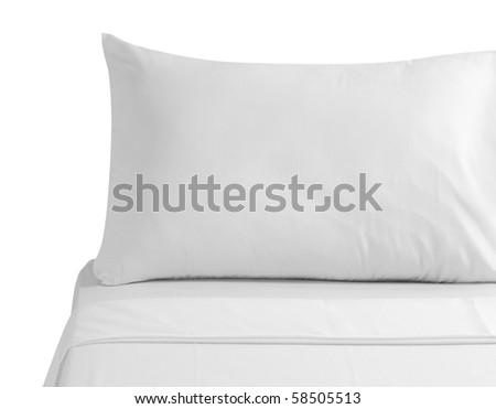 White bed. Isolated - stock photo