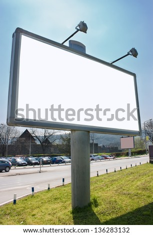 White billboard ready for your advertisement