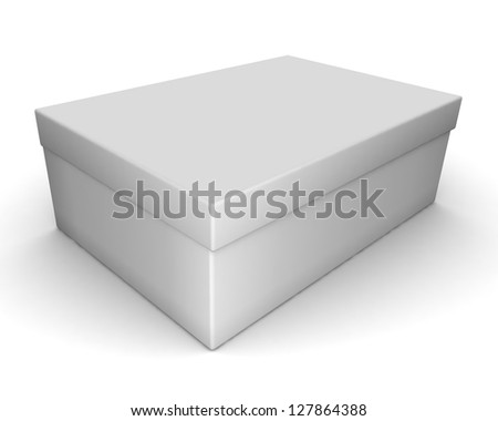 white blank box isolated over white background