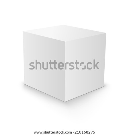 White Blank Cube 3d Box Paper Stock Illustration 210168295 ...