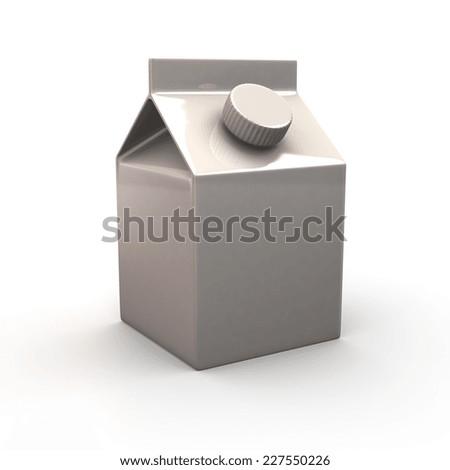 White blank juice pack - stock photo