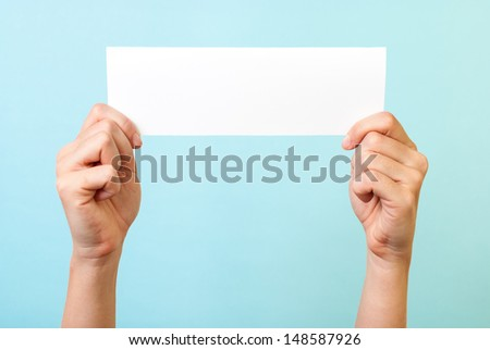 White blank message - stock photo