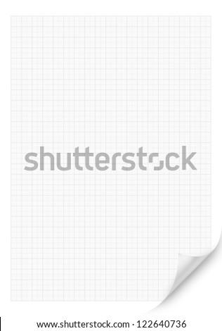 White Blank millimeter Curved Corner paper - stock photo