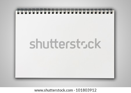 white blank note paper on gradient background - stock photo