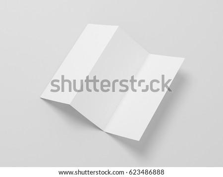 White blank opened flyer leaflet mockup stock illustration 623486888 white blank opened flyer leaflet mockup on gray background invitation letter 3d rendering stopboris Images