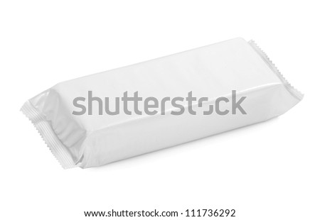 white blank package on white background - stock photo