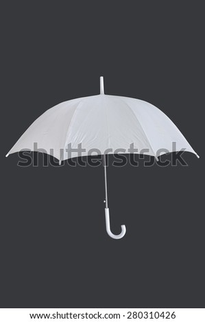 White blank umbrella isolated on grey background