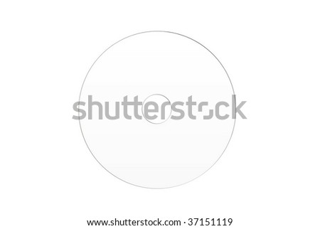 white blunk optical disc with the printed surface Plural CD DVD on a white background - stock photo