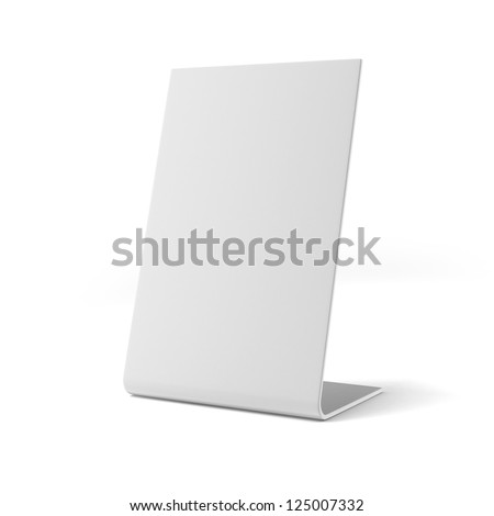 White board isolated on a white background - stock photo